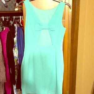 Spring bow back dress
